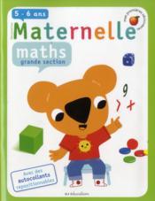 Maths ; grande section - Couverture - Format classique