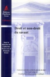 Droit et non-droit du savant - Couverture - Format classique