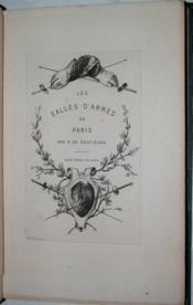 Les Salles d'armes de Paris. - Couverture - Format classique