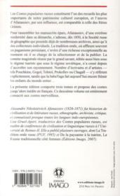 Contes populaires russes t.2 (2e édition) - 4ème de couverture - Format classique