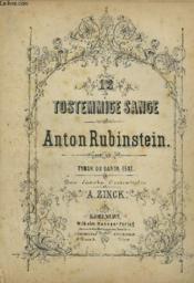 12 Tostemmige Sange - Op.48 Tydsk Og Dansk Text Den Danske Overscettlse. - Couverture - Format classique