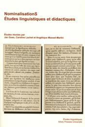 Nominalisations - Couverture - Format classique
