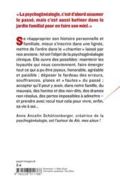 Psychogénéalogie ; guérir les blessures familiales et se retrouver soi - 4ème de couverture - Format classique