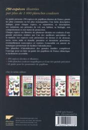 Guide des papillons de France - 4ème de couverture - Format classique