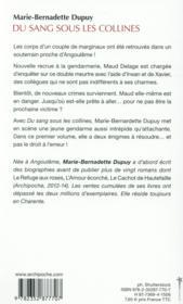 Les enquêtes de Maud Delage T.1 ; du sang sous les collines - 4ème de couverture - Format classique