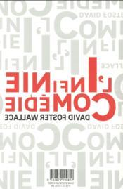 L'infinie comédie - 4ème de couverture - Format classique