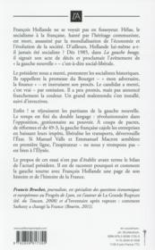 Et François Hollande enterra le socialisme - 4ème de couverture - Format classique