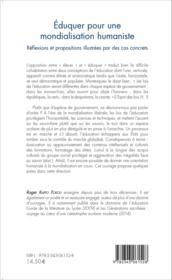 Éduquer pour une mondialisation humaniste ; réflexions et propositions illustrées par des cas concrets - Couverture - Format classique