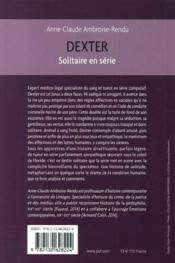Dexter ; solitaire en série - 4ème de couverture - Format classique