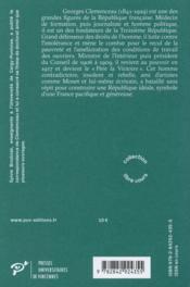 Clemenceau - 4ème de couverture - Format classique
