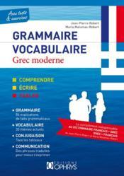 Grec moderne ; grammaire, vocabulaire - Couverture - Format classique