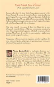 Marie Stuart, rose d'Ecosse ; la conjuration des lords - 4ème de couverture - Format classique