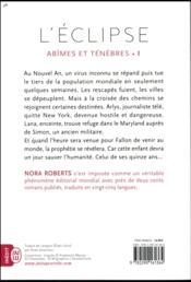 Abîmes et ténèbres t.1 ; l'éclipse - 4ème de couverture - Format classique