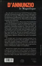 D'Annunzio le magnifique - 4ème de couverture - Format classique
