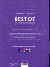 Art-thérapie ; coloriages mystères ; best of les grands classiques - 4ème de couverture - Format classique