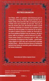 Mistress Branican - 4ème de couverture - Format classique