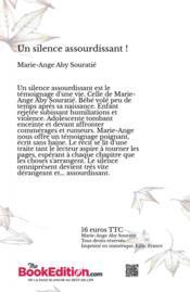 Un silence assourdissant - 4ème de couverture - Format classique