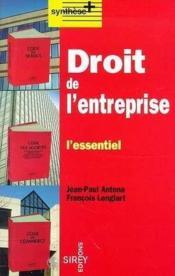 Droit De L'Entreprise 1e Ed - Couverture - Format classique