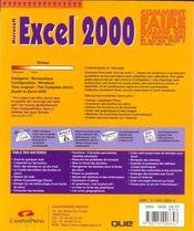 Excel 2000 - 4ème de couverture - Format classique