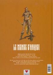 Le monde d'Arkadi t.1; les yeux d'Or-Fé - 4ème de couverture - Format classique