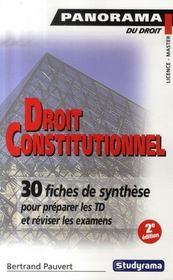 Droit constitutionnel (2e édition) - Intérieur - Format classique