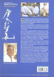 Karate do shito-ryu - 4ème de couverture - Format classique