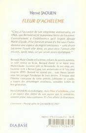 Fleur d'achélème - 4ème de couverture - Format classique