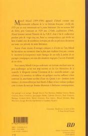 Marcel arland ou la grace d'ecrire - 4ème de couverture - Format classique