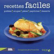 Recettes Faciles ; Poelees, Soupes, Pates, Papillotes, Desserts - Couverture - Format classique