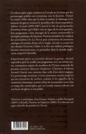 Adrien Arcand, führer canadien - 4ème de couverture - Format classique