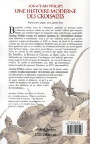 Une histoire moderne des croisades - 4ème de couverture - Format classique