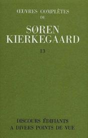 Oeuvres complètes de Soren Kierkegaard t.13 - Couverture - Format classique