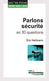 Parlons sécurité en 30 questions - Couverture - Format classique