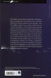 La Chaussée, Destouches et la comédie nouvelle au XVIII siècle - 4ème de couverture - Format classique