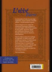Abbé Pierre ; le roman de sa vie - 4ème de couverture - Format classique