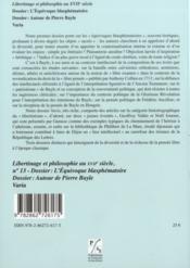 Libertinage et philosophie au XVIIe siècle - 4ème de couverture - Format classique