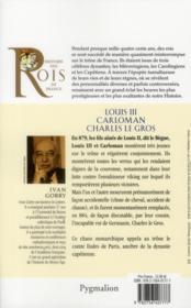 Louis III, Carloman et Charles le gros - 4ème de couverture - Format classique