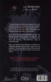 Les morsures de la nuit - 4ème de couverture - Format classique