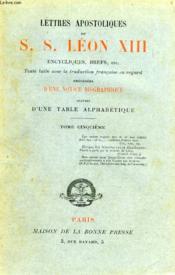 Lettres Apostoliques De S. S. Leon Xiii, Tome V - Couverture - Format classique