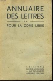 Annuaire Des Lettres 1941 Pour La Zone Libre - Couverture - Format classique