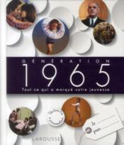 Génération 1965 - Couverture - Format classique