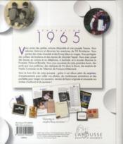 Génération 1965 - 4ème de couverture - Format classique