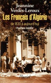 Les français d'Algérie - Couverture - Format classique