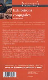 Exhibitions conjugales - 4ème de couverture - Format classique