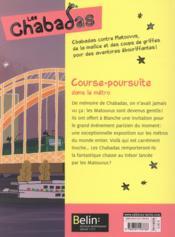 Les Chabadas T.5 ; course-poursuite dans le métro - 4ème de couverture - Format classique