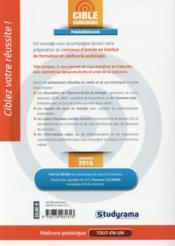 Pédicure-podologue - 4ème de couverture - Format classique