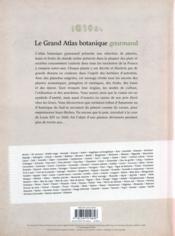 Le grand atlas botanique gourmand - 4ème de couverture - Format classique