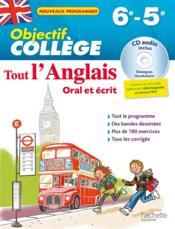 OBJECTIF COLLEGE ; tout l'anglais ; 6e-5e - Couverture - Format classique
