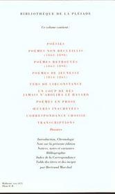 Oeuvres complètes t.1 - 4ème de couverture - Format classique