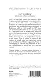 L'art du présent : entretiens avec Fabienne Pascaud - 4ème de couverture - Format classique
